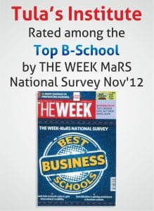Tula's Institute Rated among Top B-School by The Week