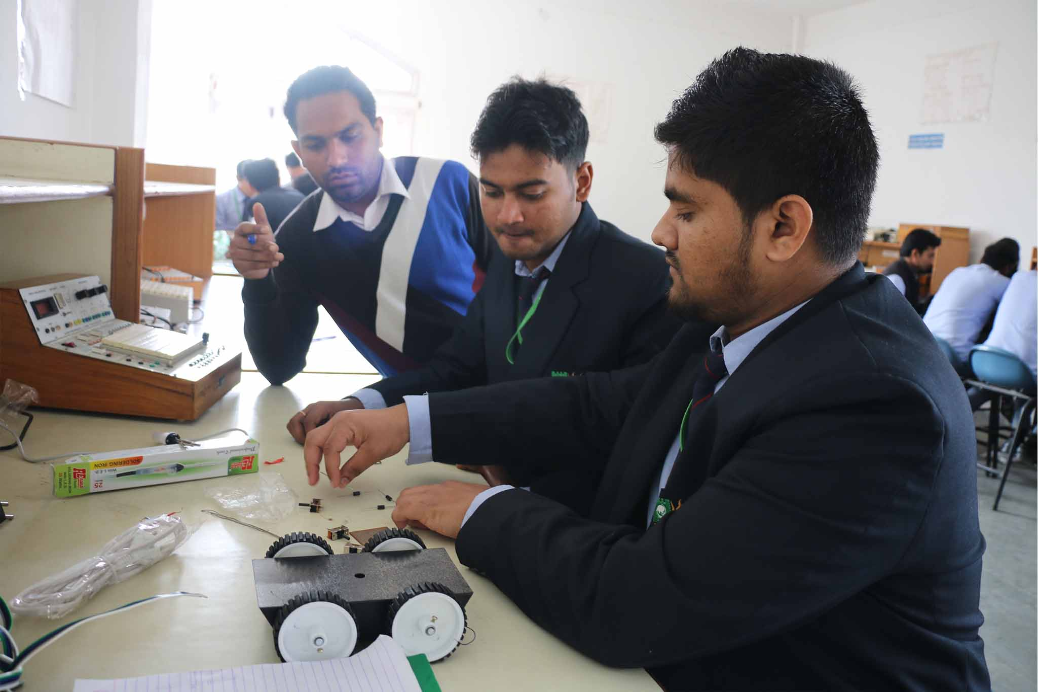 engineering students participated in various events at TI
