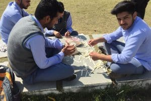 TI students excitingly waiting for finale