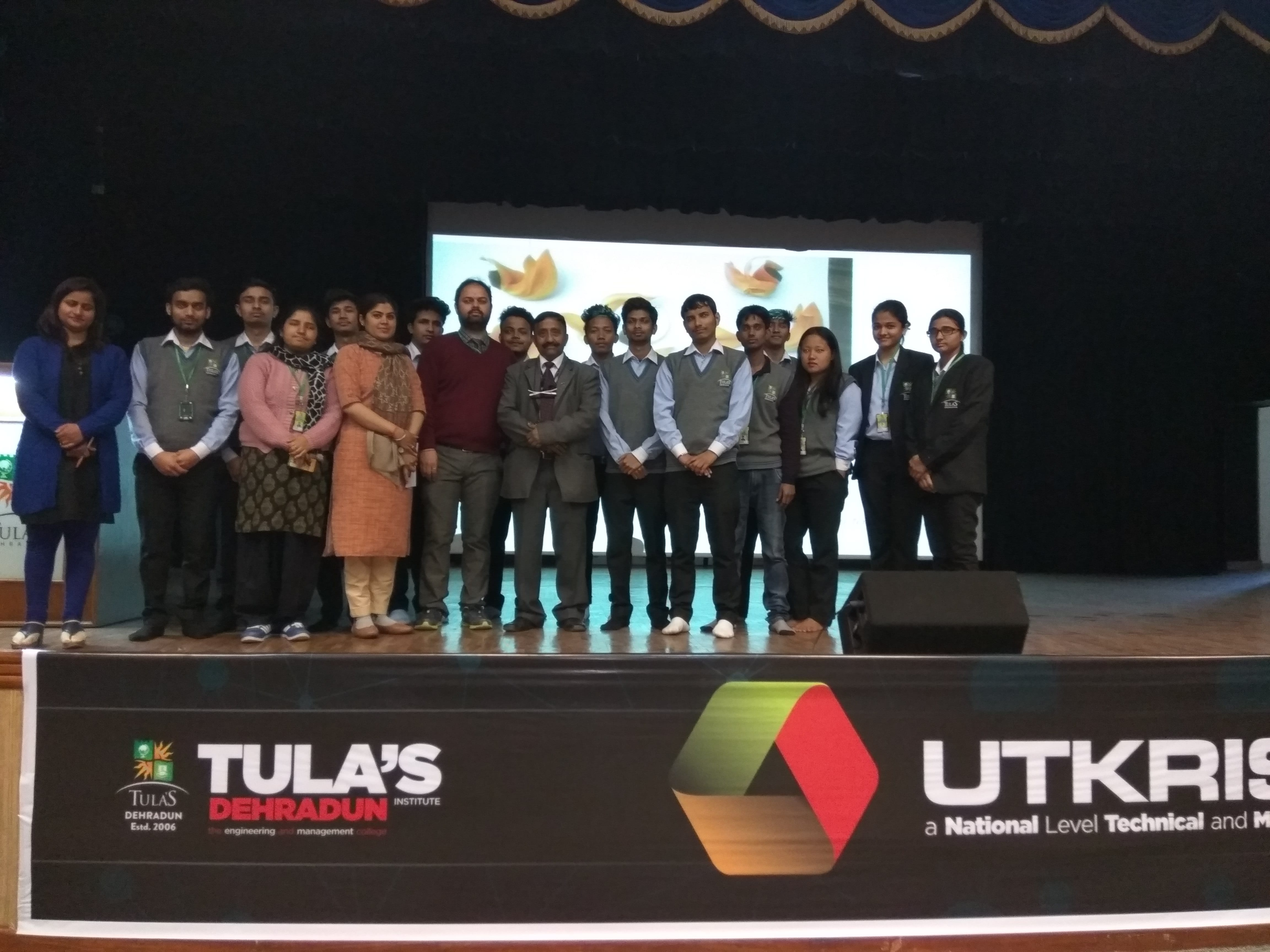 students participated in Utkrisht 2017, a tech fest