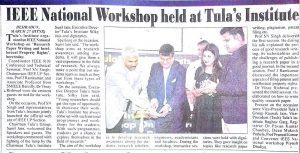 IEEE national workshop held at Tula's Institute