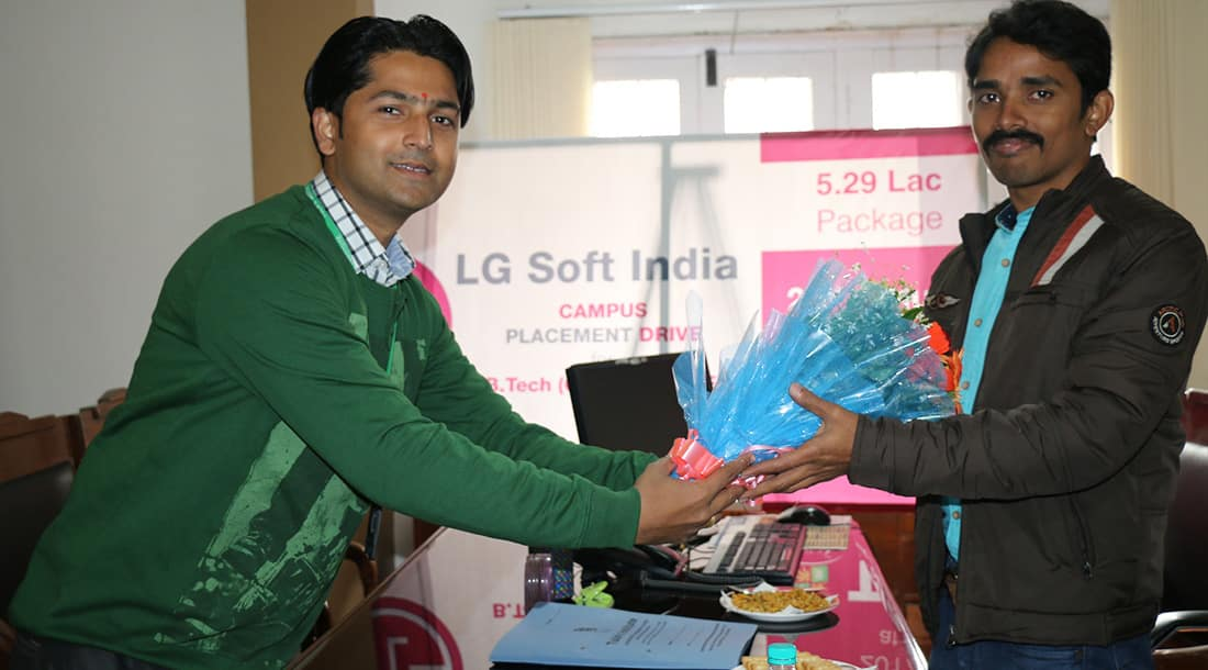 Campus Placement Drive of Lg Soft India on 21st Jan 2017