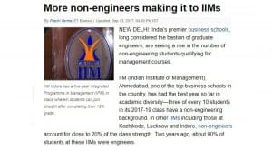 More non-engineers making it to IIMs