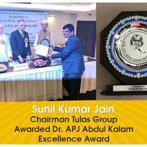The founder of the group Mr. Sunil Jain been awarded with APJ Kalam Award of excellence