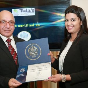 "Tula's is certified as ""Global League Institute"" by The Great Place to Study"